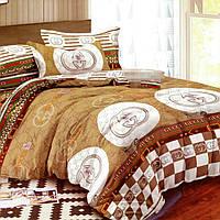 Полуторное постельное белье из полисатина