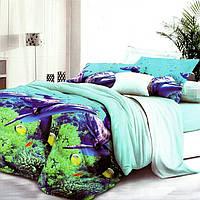 Полуторное постельное белье полисатин
