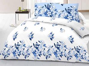 Полуторный размер постельное белье «Голубые листочки»