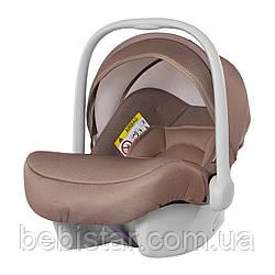 Детское автокресло бежевое от рождения до 15 месяцев (0-13 кг) CARRELLO Mini CRL-11801 Stone Brown