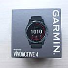 Смарт-годинник Vivoactive 4 Slate Stainless Steel Bezel with Black Case and Silicone Band з чорним ремінцем, фото 4