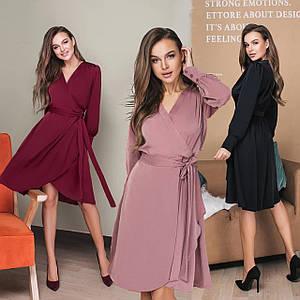 Женское платье на запах /разные цвета, 42-54, LL-026/