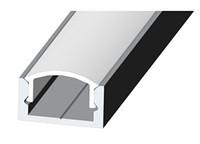 Алюминиевый профиль для светодиодной ленты ЛП7 + рассеиватель(прозрачный)