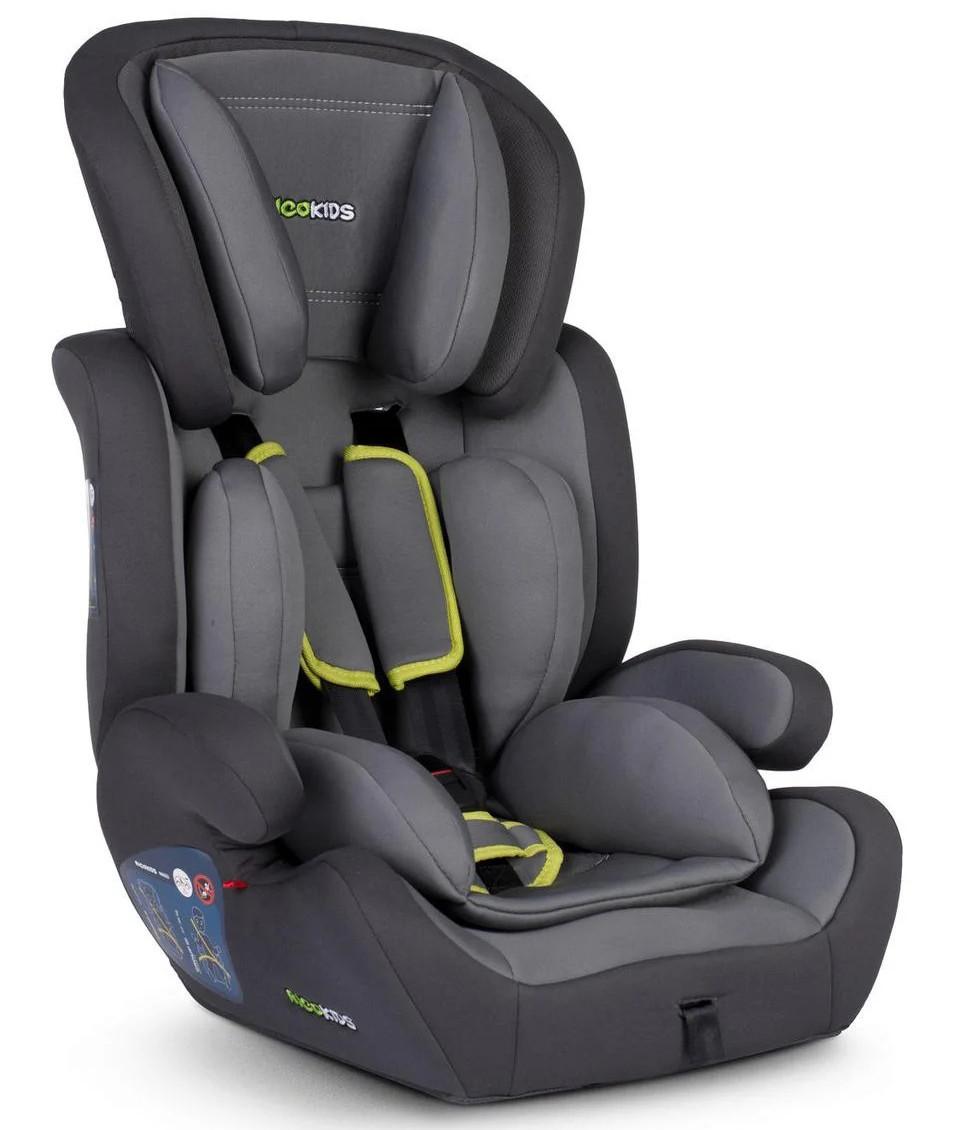 Автокресло детское MASSI RICOKIDS 9-36 кг серое универсальное для ребенка (дитяче автокрісло універсальне)
