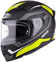 Мотошлем интеграл с солнцезащитными очками Rocc 331 черный/желтый, M