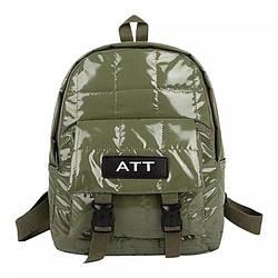 Рюкзак стеганый хаки Mojoyce (AV190)