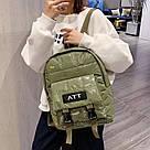 Рюкзак стеганый хаки Mojoyce (AV190), фото 3