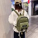 Рюкзак стеганый хаки Mojoyce (AV190), фото 2