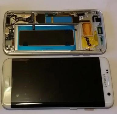 Дисплей модуль Samsung G935F Galaxy S7 EDGE з рамкою в зборі з тачскріном, білий