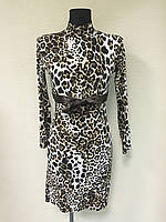 Леопардовое платье Nadia