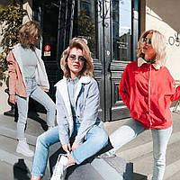 Женская велюровая куртка свободного кроя /разные цвета, 42-48, LL-029/