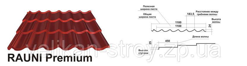 Металлочерепица Rauni Premium - Великан-Строй в Запорожье