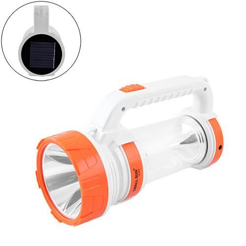 Фонарь переносной Small Sun ZY-S005-5W+COB, ЗУ 220V, встроенный аккумулятор, солнечная батарея, Power Bank, Box
