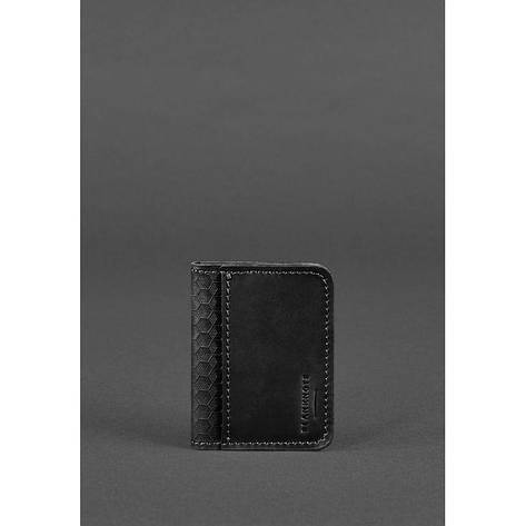 Мужская кожаная обложка для водительских прав 4.0 Карбон черная, фото 2