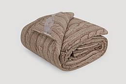 Одеяло IGLEN из овечьей шерсти во фланели Зимнее 110х140 см Коричневый 1101405F, КОД: 141658