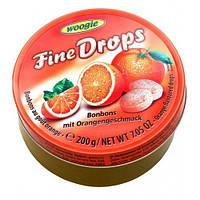 Льодяники зі смаком апельсина Fine Drops Orange 200 р.