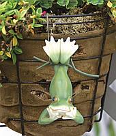 """Декор для горшков, растений 6,5х4,5х12 см. """"Жабка"""""""