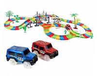 Детский светящийся гоночный трек-конструктор Magic Tracks 360 с 2-мя машинками