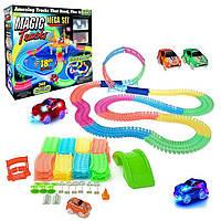 Детский светящийся гоночный трек-конструктор Magic Tracks 360 деталей с 2-мя машинками