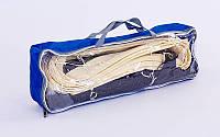 Сетка для волейбола безузловая с тросом (р-р 9,5x1м, ячейка 10x10см) C-5640