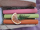 Воскові свічки з кольорової вощини, фото 6