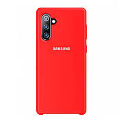 Силиконовый чехол на Samsung Note 10 Plus Soft-touch Red