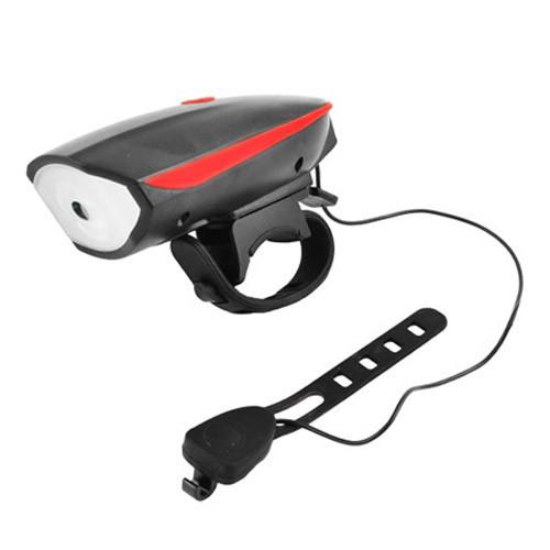 Велосипедний дзвінок + велофара 758/FY-056, 3xAAA, виносна кнопка