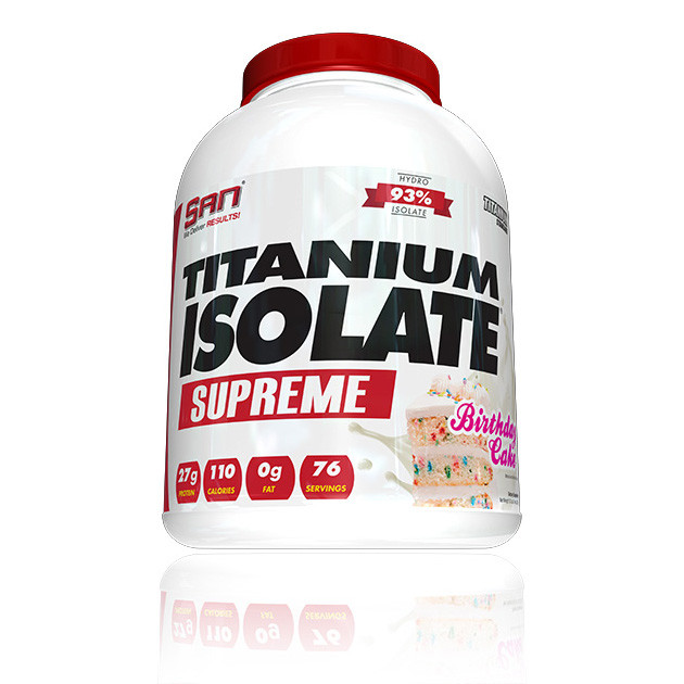 Сироватковий протеїн ізолят SAN Titanium Isolate Supreme (2,27 кг) сан титаниум vanilla sundae