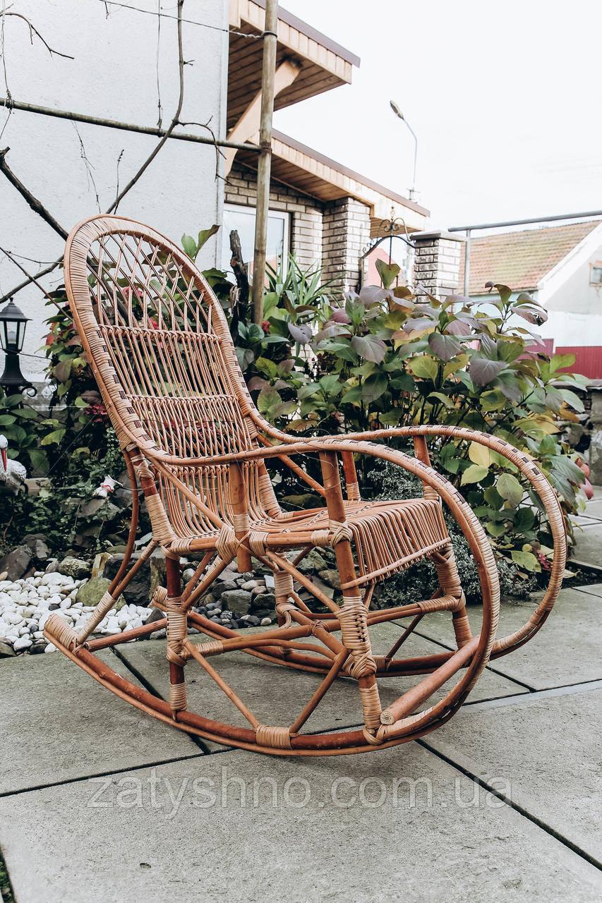 Кресло качалка кофейная для дачи | кресло качалка садовая из лозы | качалка дачная