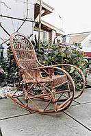 Кресло качалка кофейная для дачи | кресло качалка садовая из лозы | качалка дачная, фото 1