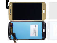 Дисплей модуль Motorola XT1684, XT1685, XT1687 Moto G5 Plus в зборі з тачскріном, золотистий