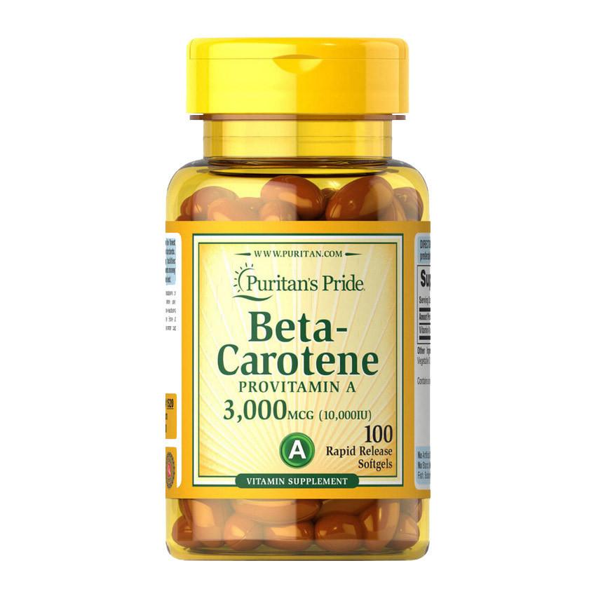 Бета-каротин Puritan's Pride Beta-Carotene 3,000 mcg (100 капс) пуританс прайд