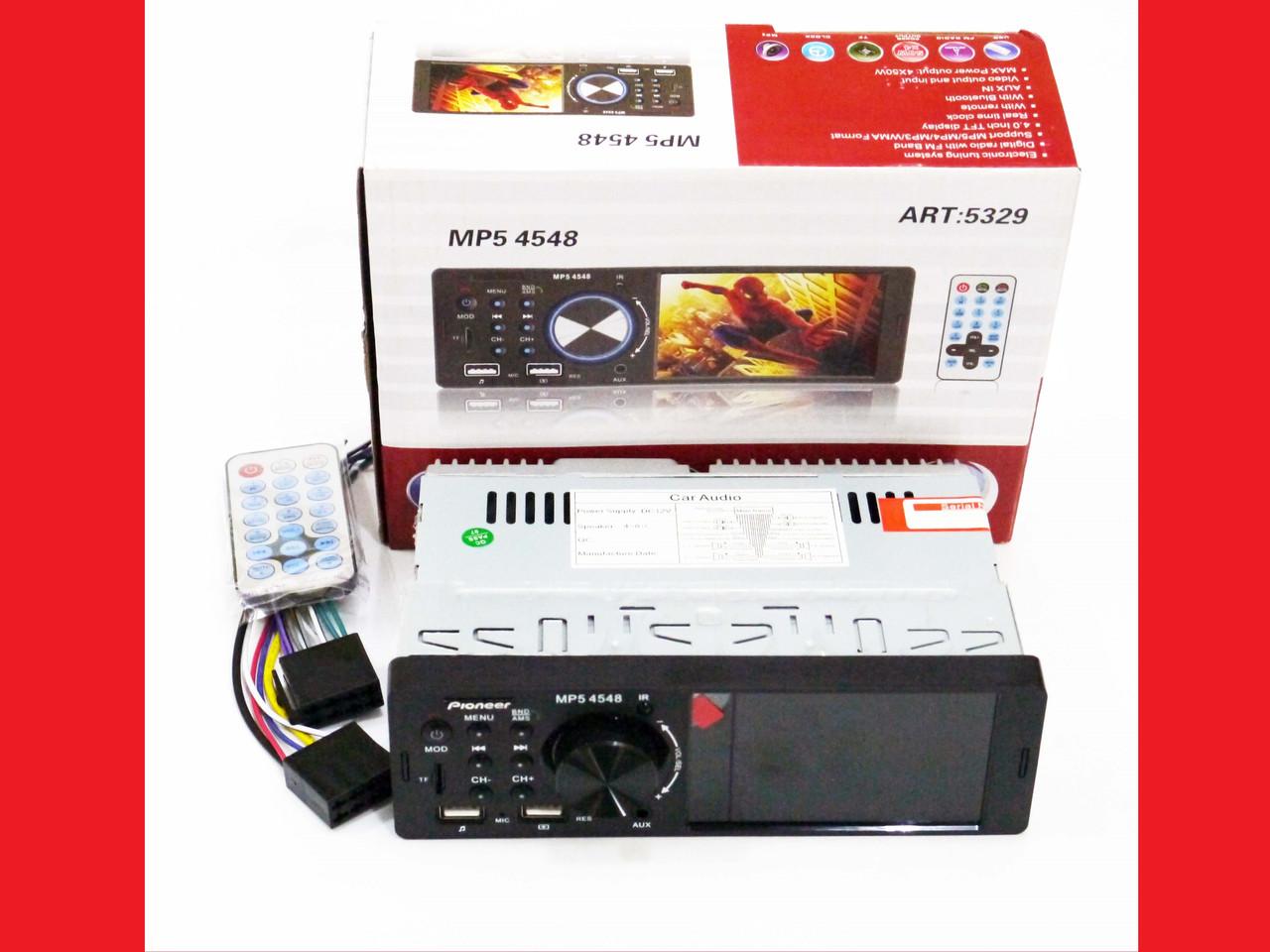 "Автомагнитола MP5 Pioneer 4548 экран 4"" Bluetooth AV-in"