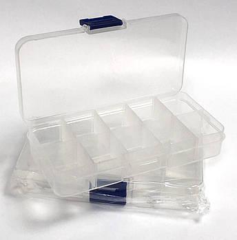 Пластиковый контейнер-органайзер для хранения страз (10 ячеек)