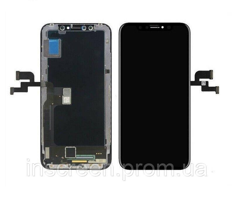 Экран (дисплей) Apple iPhone XS с тачскрином (сенсором) черный, OLED