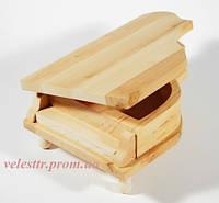 Шкатулка Рояль 20х12.5х7.5/4.3 см дерево заготовка для декора