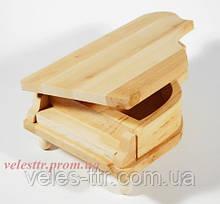 Шкатулка Рояль 20х12.5х7.5/4.3 см дерево(сосна) заготовка для декора