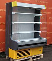 Холодильный регал «Росс Modena ВПХГ 350-Д» 1.4 м. (Украина), прозрачные боковые стекла, Б/у
