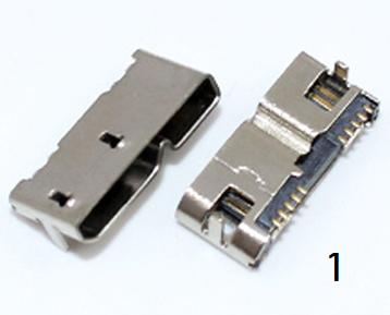 Разъем гнездо  Speed Micro USB 3.0  10Pin