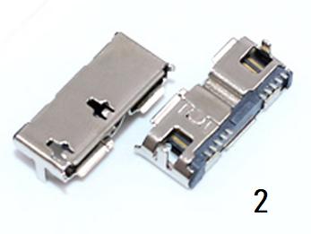 Разъем гнездо  Speed Micro USB 3.0  10Pin, фото 2
