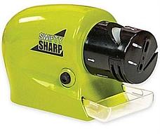 Мощная электрическая Ножеточка Swifty Sharp, электрическая точилка для ножей и ножниц на батарейках, фото 3