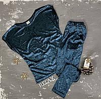 Комплект велюровый женский со штанами
