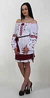 Женская вышиванка из простой крой и легкость ткани, фото 1