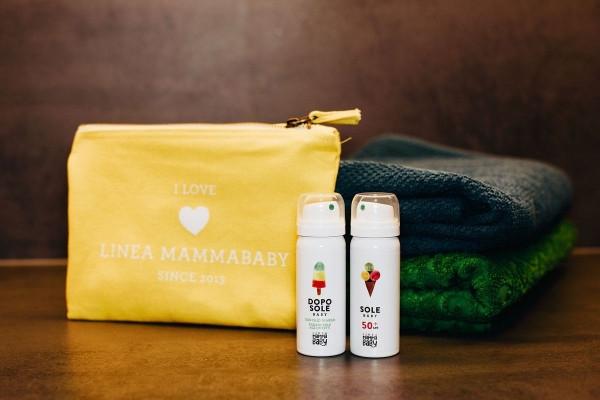 Linea Mamma Baby Набор солнцезащитный в дорогу аэрозольный (2 по 25 мл) Travel Kit Sole Baby