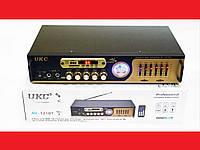 Усилитель звука MAX / UKC AV-121BT USB + КАРАОКЕ 2микрофона