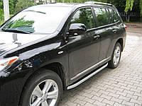"""Пороги боковые """"Allyans"""" Toyota Highlander (2007-...)"""