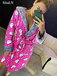 "Женский розовый халат ""Hello kitty"", фото 4"