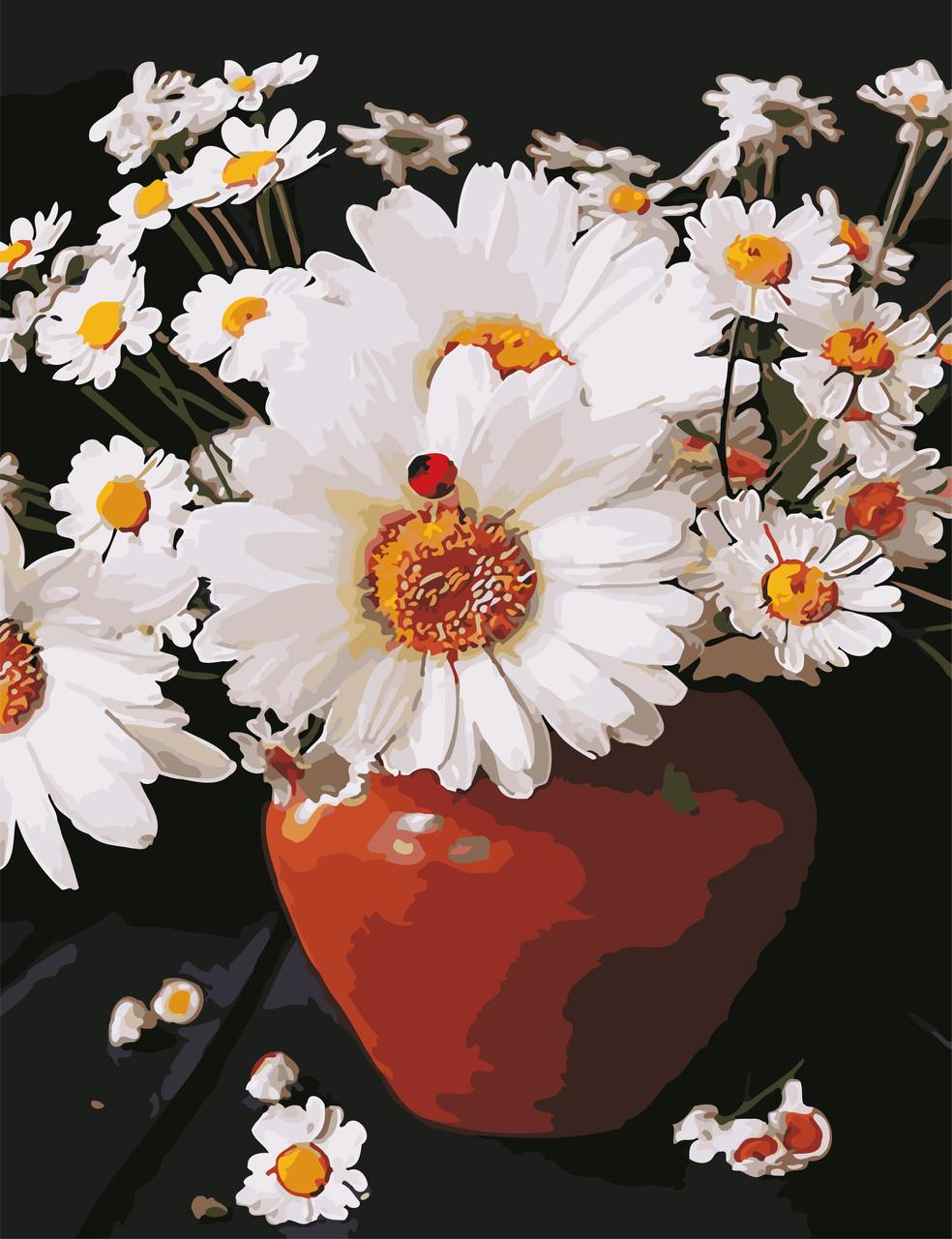 Художественный творческий набор, картина по номерам Ромашки в кувшине, 50x65 см, «Art Story» (AS0648)