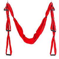 Гамак для йоги с ручками Antigravity Yoga FI-5323 красный