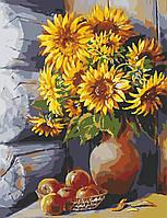 Художественный творческий набор, картина по номерам Яркие подсолнухи, 50x65 см, «Art Story» (AS0653), фото 1